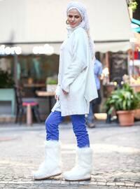 White - Ecru - Polo neck - Acrylic -  -  - Tunic