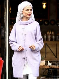 Lilac - Polo neck - Acrylic -  -  - Tunic