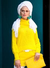 Yellow - Polo neck - Acrylic -  -  - Tunic