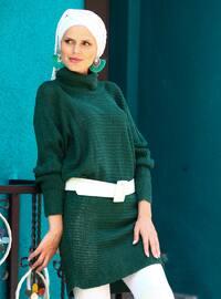 Green - Polo neck - Acrylic -  -  - Tunic