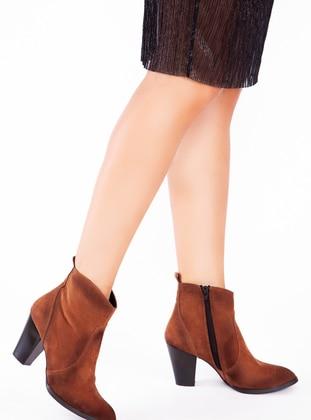 Tan - Boot - Boots - Ayakkabı Havuzu