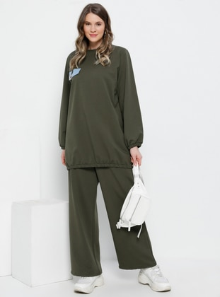 Khaki - Unlined -  - Plus Size Suit