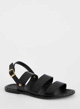 Black - Sandal - DeFacto