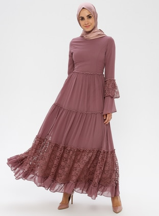 Dusty Rose - Crew neck - Half Lined - Dress