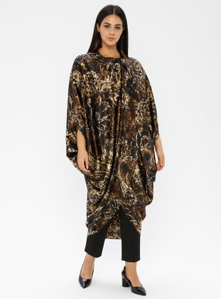 Gold - Multi - Crew neck - Tunic