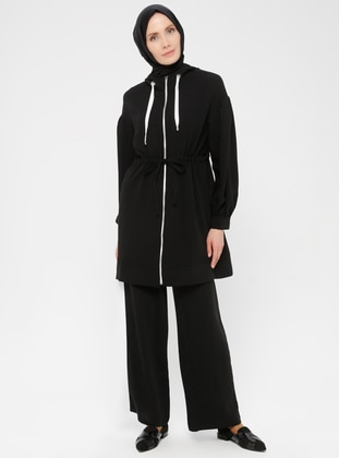 Black - Crepe - Suit
