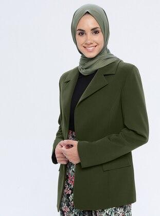 Khaki - Fully Lined - Shawl Collar - Jacket