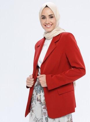 Terra Cotta - Fully Lined - Shawl Collar - Jacket