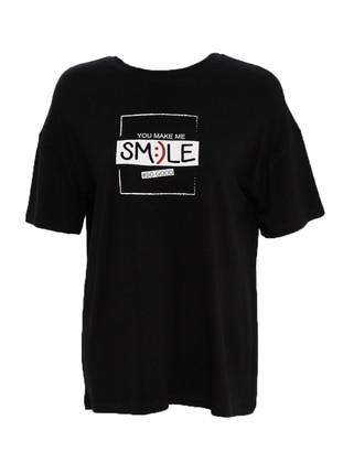 Black - T-Shirt - Meys