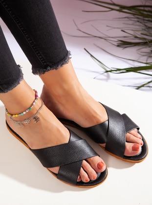 Black - Black - Sandal - Slippers