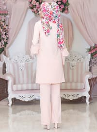 Salmon - Unlined - Viscose - Suit