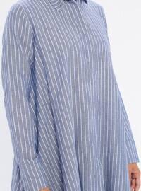 Indigo - Stripe - Point Collar -  - Tunic