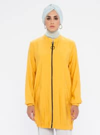 Yellow - Crew neck - - Tunic