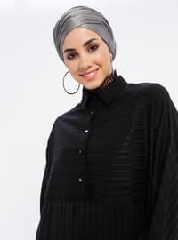 Black - Point Collar -  - Tunic