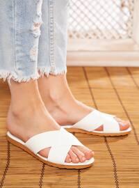 White - White - Sandal - Slippers
