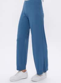 Indigo - Acrylic -  - Viscose - Pants