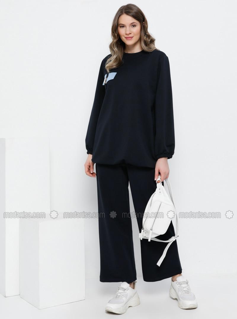 Navy Blue - Unlined -  - Plus Size Suit
