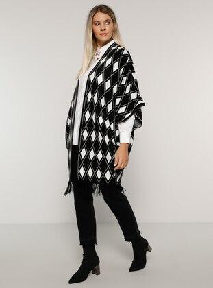 Black - Multi - Acrylic -  - Plus Size Cardigan - Alia