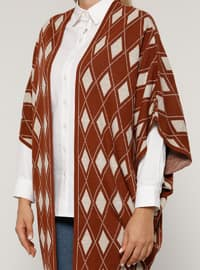Cinnamon - Multi - Acrylic -  - Plus Size Cardigan