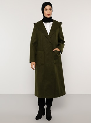 Khaki - Fully Lined - Rayon - Coat