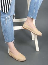 Camel - Flat - Flat Shoes