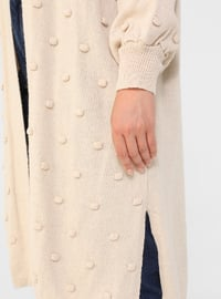 Stone - Acrylic - - Plus Size Cardigan