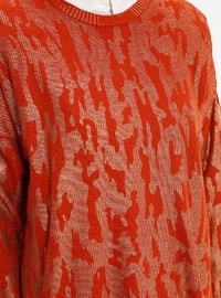 Cinnamon - Multi - Crew neck - Acrylic -  - Plus Size Jumper