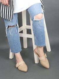 Beige - Camel - Sandal - Slippers