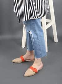 Camel - Orange - Sandal - Slippers