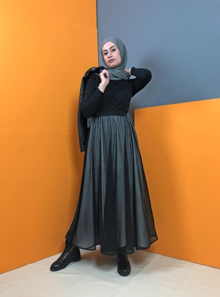 White - Black - Unlined - Skirt
