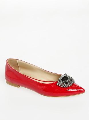 Red - Flat - Sandal - Flat Shoes