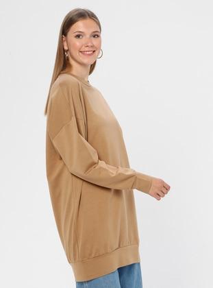 Camel - Crew neck -  - Tunic