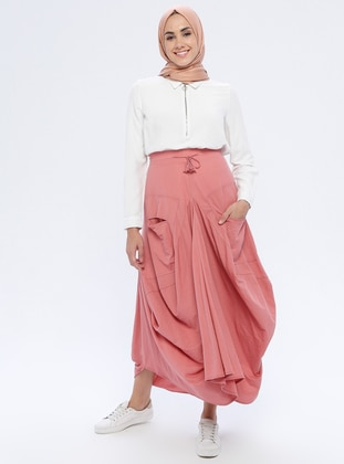 Dusty Rose - Unlined - Nylon - Rayon - Skirt