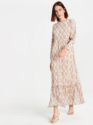 Printed - Beige - Dress