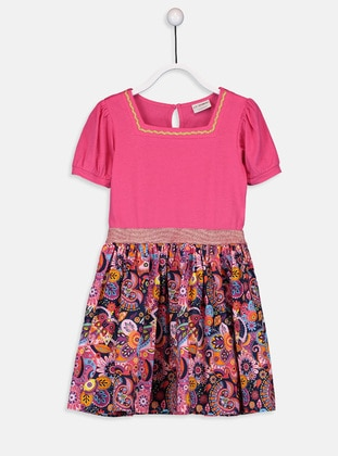 Printed - Fuchsia - Girls` Dress - LC WAIKIKI