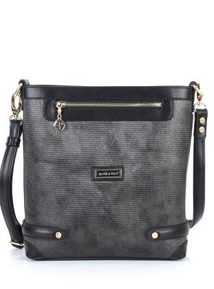 Silver tone - Black - Shoulder Bags