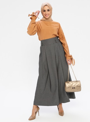 Black - Viscose - Culottes