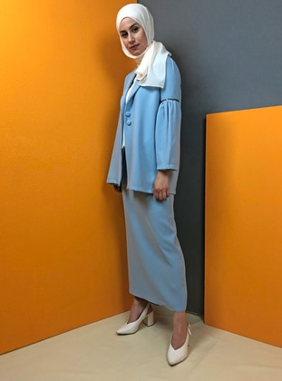 Baby Blue - Unlined - Suit