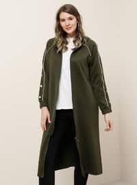 Khaki - Stone - Unlined - Plus Size Coat