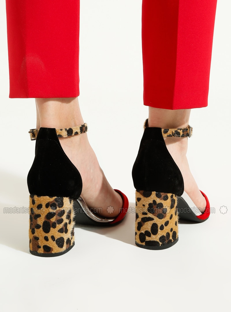 leopard and red heels