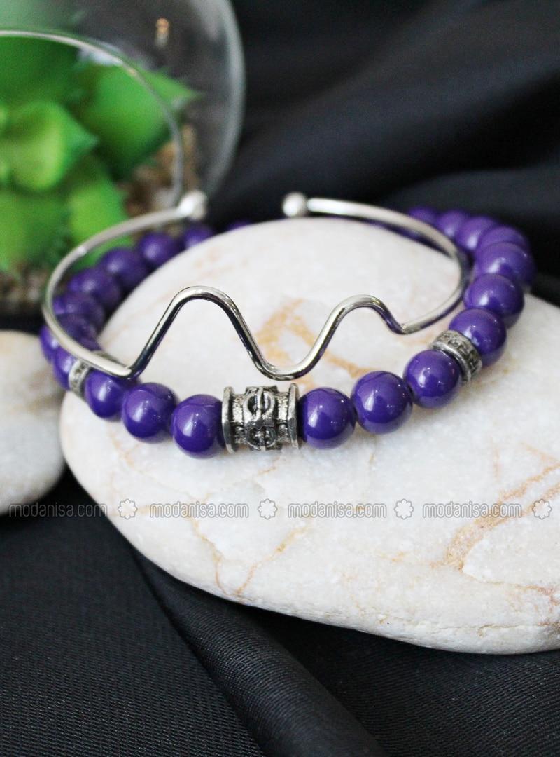 Silver tone - Purple - Bracelet