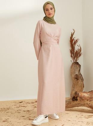 Powder - Crew neck - Unlined - Nylon - Viscose - Dress