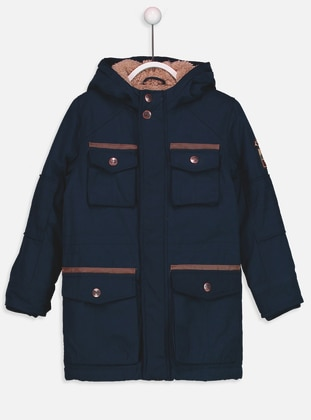 Navy Blue - Boys` Coat