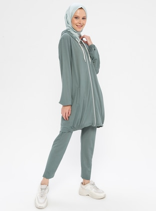 Green - Cotton - Tracksuit Set