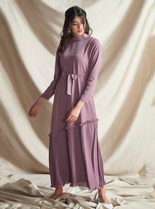 Lilac - Crew neck -  - Dress
