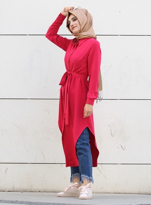 Fuchsia - Point Collar - Tunic