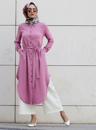 Lilac - Point Collar - Tunic