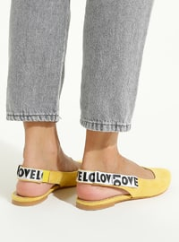 Yellow - Flat - Flat Shoes