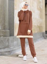 Brown - Cotton - Tracksuit Set