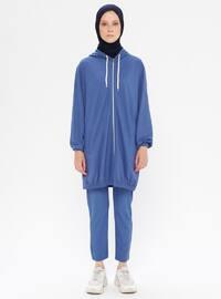 Blue - Cotton - Tracksuit Set